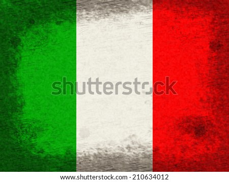 Italy Flag Representing Text Space And Patriotic