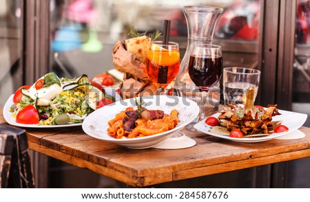 Italy food - stock photo