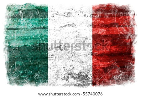 Italy grunge flag - stock photo