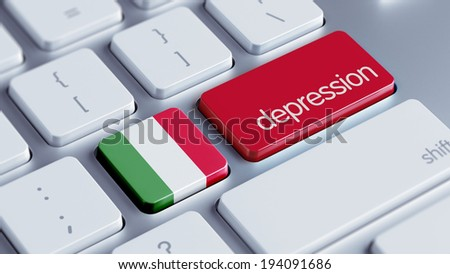 Italy High Resolution Depression Concept - stock photo