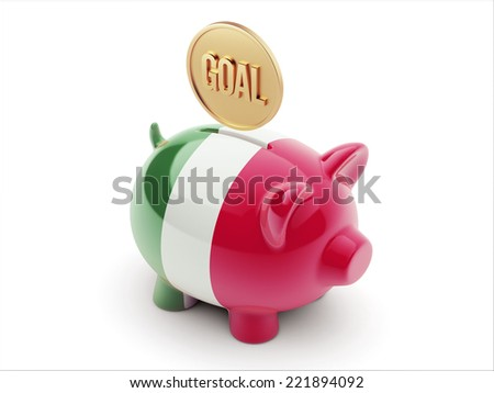 Italy High Resolution Goal Concept High Resolution Piggy Concept