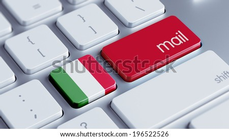 Italy High Resolution Mail Concept - stock photo