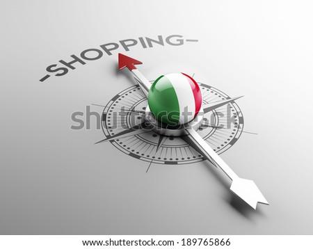 Italy High Resolution Shopping Concept - stock photo