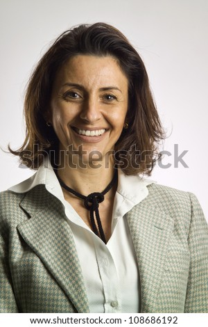 Italy, italian middle aged business woman portrait - stock photo