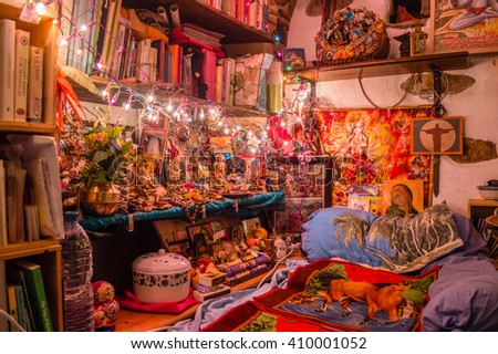 ITALY - JUNE 30: Indian style room on June 30, 2015.