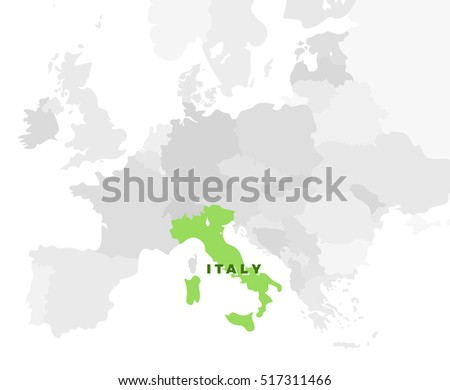 Italy location modern detailed map all stock vector 438238792 italy location modern detailed map all european countries without names and italian republic template gumiabroncs