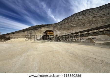 Italy, Maddaloni (Naples), stone pit - stock photo