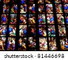 Italy - Milan - Duomo stained glass - stock photo