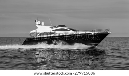 Italy, Naples, luxury yacht - stock photo