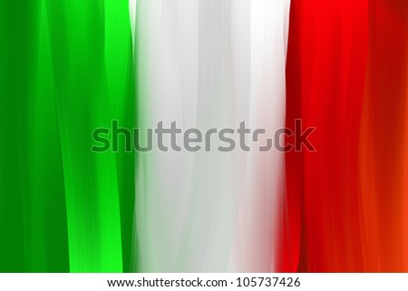 Italy national hand painted flag