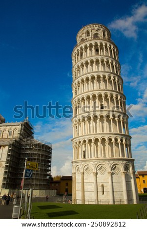 Italy. Pisa. Leaning tower.