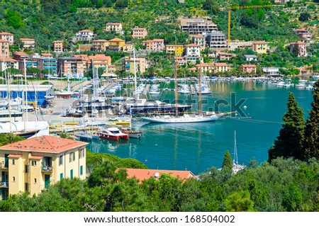 Italy, Portovenere - a port city. seascape - stock photo