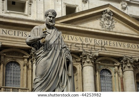 Italy, Roma, basilica saint peter - stock photo