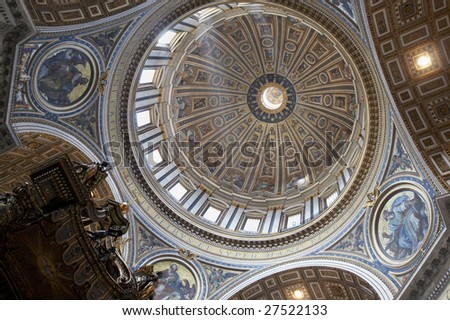 Italy, Roma, Vatican. Inside of Saint Peter's Basilica
