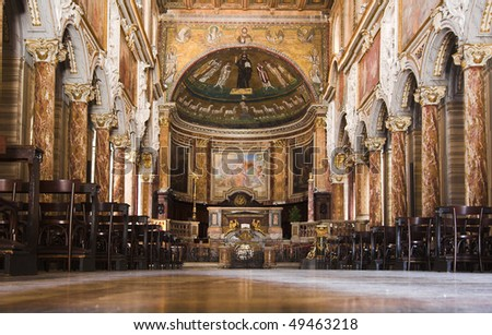 Italy - Rome - Basilica san Marco - stock photo