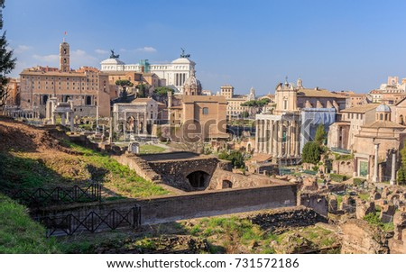 Italy, Rome, Roman forums, view of the altar of the fatherland.
