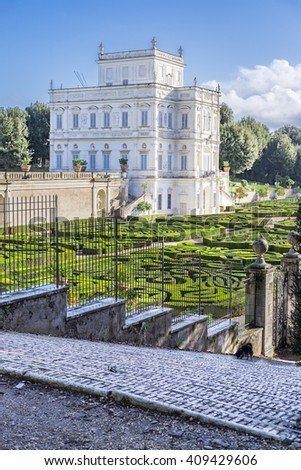 Italy, Rome, Villa Dora Pamphili - 06 March 2016: Villa Pamphili and its secret gardens. It is definitely one of the most picturesque parts of the park