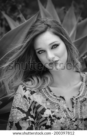 Italy, Sicily, beautiful girl portrait