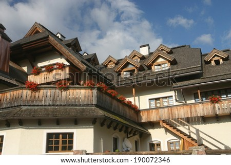 Italy Trentino mountains - stock photo