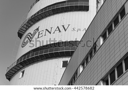 Italy, Venice; 14 September 2011, view of the Airport flight control tower - EDITORIAL