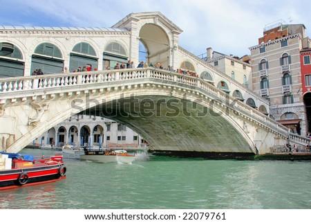 Italy, Venice the Rialto bridge - stock photo