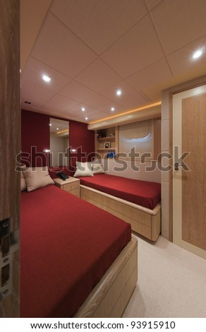 Italy, Viareggio (Tuscany), Tecnomar 35 Open luxury yacht, second guests bedroom