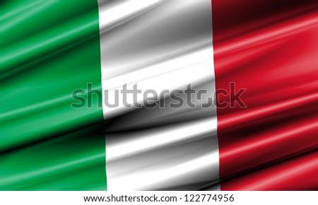 Italy Waving Flag - stock photo