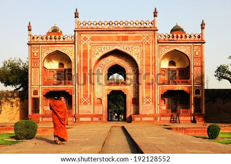 Itmad-Ud-Daulah's Tomb at Agra, Uttar Pradesh, India - stock photo