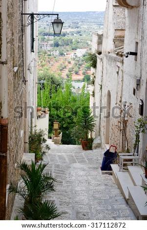 Itria valley view from Cisternino (Italy) - stock photo
