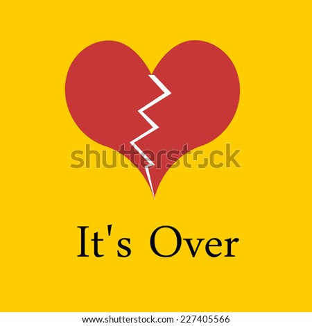 Its Over. Divorce - stock photo