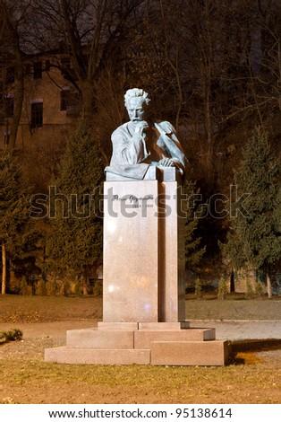 Ivan Franko monument in Kyiv, Ukraine - stock photo