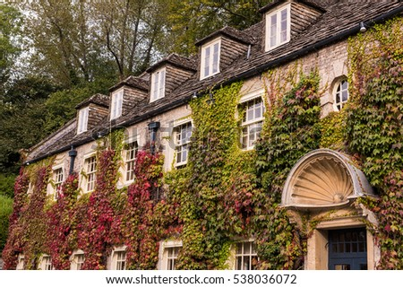 Ivy Covered Building in the Cotswolds england