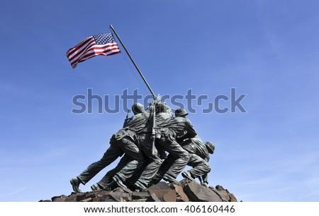 Iwo Jima memorial in Washington DC 2016 - stock photo
