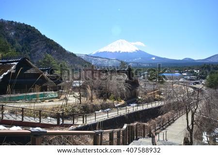 Iyashi No Sato Village located near Mt.Fuji. Japan - stock photo