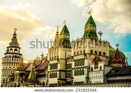 Izmaylovo Kremlin in Moscow, Russia - stock photo