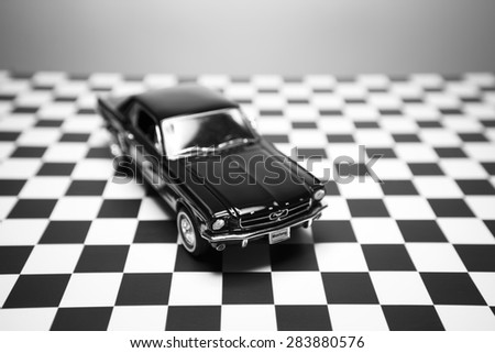 Izmir, Turkey - June 01, 2015.  Ford mustang 260 toy car product shot. - stock photo