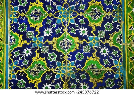 Iznik Tiles in Istanbul - Topkapi Palace, Sultanahmet District, Istanbul, Turkey, Europe - stock photo