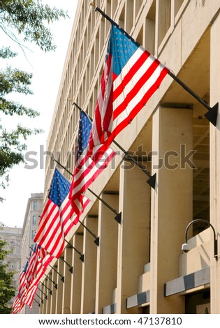 J. Edgar Hoover Building American Flags