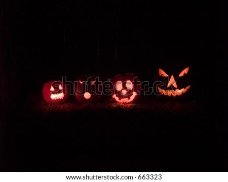 jack-o-lanterns - stock photo