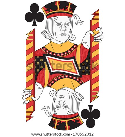Jack of Clubs without card. Original design