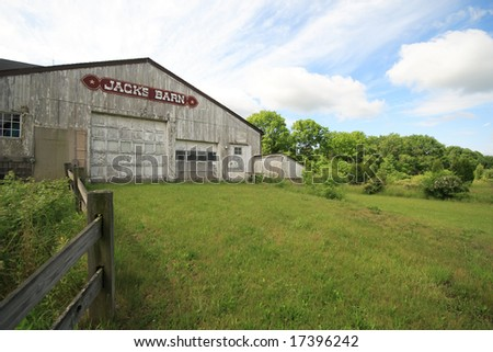 Jack's barn on a nice sunny day - stock photo