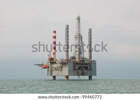 Jack-up Drilling Unit - stock photo