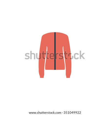 Jacket. Colorful pictogram symbol on white background. Simple icon - stock photo
