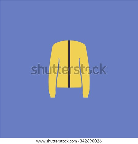 Jacket. Colorful retro flat icon - stock photo
