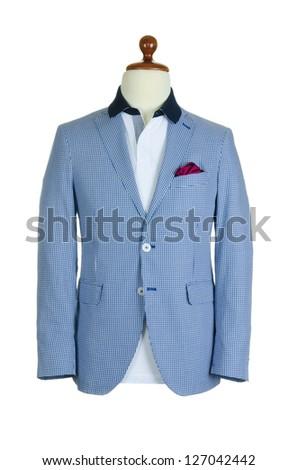 Jacket isolated on the white background - stock photo