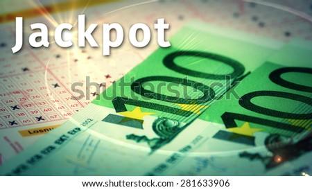 Jackpot gambling winnings - stock photo