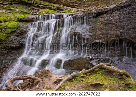 Jackson Falls waterfall in Tennessee.   - stock photo