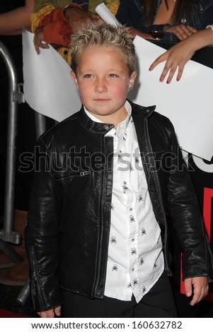 """Jackson Nicoll at the """"Jackass Presents: Bad Grandpa"""" Los Angeles Premiere, Chinese Theater, Hollywood, CA 10-23-13 - stock photo"""