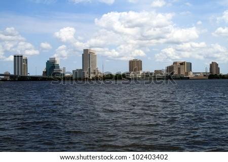 Jacksonville Florida Skyline Southbank - stock photo