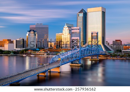 Jacksonville, Florida, USA downtown city skyline. - stock photo